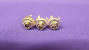 3 x 2.5mm Female Switched Sockets Chassis Panel Mount Jack - Mono