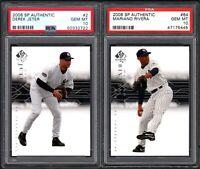 2008 SP Authentic #2 DEREK JETER HOF New York Yankees PSA 10 GEM MINT (2) CARDS