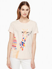 Kate Spade New York - Oh Hello Tee - Small - Cotton T shirt BNWT - Camel