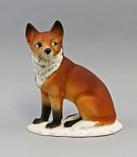 9959476 Porzellan Figur Fuchs bisquit Ens 17,5x9x21,5cm