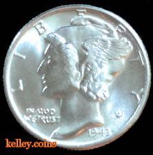 1943 Winged Liberty Head Mercury Dime BU