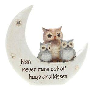 Night Owl Nan Hugs And Kisses Ornament Gift