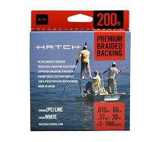 Hatch 200 Meters Premium Braided Fly Line Backing, New!