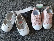 2 Pairs Bnwt Primark/f &f Shoes 3-6 Months
