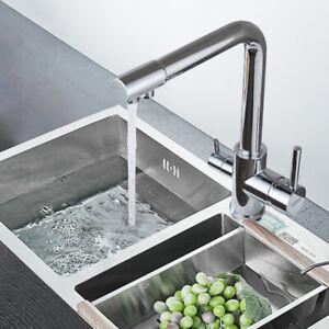 Küchenarmatur Edelstahl 3 Wege Wasserfilter Wasserhahn Osmose Trinkwasserhahn