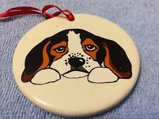 KATHERINE WASHBURN CERAMICS: DOG CHRISTMAS ORNAMENT #1