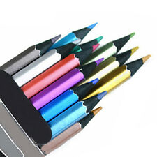 12 Color Metallic Non-Toxic Colored Drawing Pencils Drawing Sketching Pencil