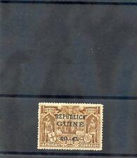 PORTUGUESE GUINEA Sc 130var(SG 144var)*VF HR  10c/100R, ERROR, NOTCH IN 1 OF 10c