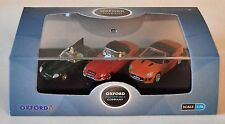 Oxford Diecast 1/76 76SET48 ensemble de 3 modèles Jaguar Set D, E et F.