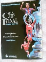 1990 FA Cup FINAL- CRYSTAL PALACE v MANCHESTER UNITED Excellent Condition- ORG*.