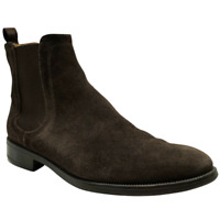 Barneys New York Suede Brown Chelsea Ankle Pull On Boots Shoes Men's Size 10.5 M