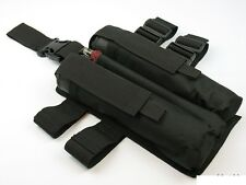 hip Pouch Case belt molle Harnesse black PAINTBALL airsoft bag tube 160 140 pods