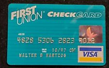 First Union Check Card Visa credit card exp 1997♡Free Shipping♡cc1238