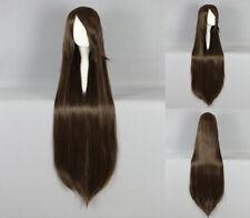 Ladieshair Cosplay Perücke glatt braun mit Pony ca. 100cm lang