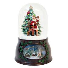 Santa & Christmas Tree Christmas Snow Globe (Musical)