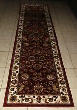 NEW RED TRADITIONAL PERSIAN DESIGN HEATSET FLOOR HALLWAY RUNNER RUG 80X300CM