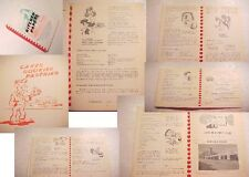 1951 SANTA FE,NM WOMAN CLUB COMMUNITY RECIPES COOK BOOK old Ads new mexico