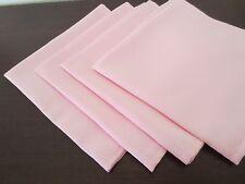 "Lot Set 4 Spring Pastel Pink Large 19"" Polyester Cloth Table Lap Dinner Napkins"