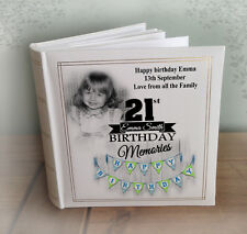 21st Birthday personalised large luxury photo album photo memory book 200 x 6x4""
