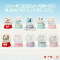 SANRIO KITTY TWIN STAR MAROON CREAM CHERRY CHUMS MINNA  PC MINI SNOWGLOBE DOME