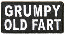 GRUMPY OLD FART - IRON or SEW-ON PATCH