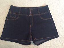 Ladies New Look London Yes Yes High Waist Denim Shorts - Indigo - UK14 New