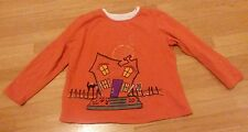 Womens large 12/14 orange Halloween lightweight warm sweater