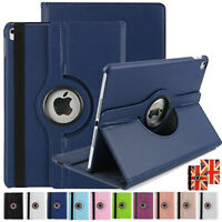 New iPad Case 360 PU Leather Magnet Folio Smart Stand Cover All Apple iPad Model