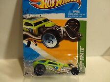 2012 Hot Wheels Treasure Hunt #63 Green Surf Crate w/Blue Rim O5 Wheels