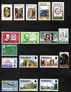 Gibraltar..  Mint (No Hinge Marks) postage stamp collection from Gibraltar..5270