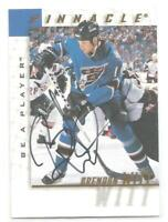 Brendan Witt 1997-98 BAP Be A Player Autograph Signed #162 Washington Capitals
