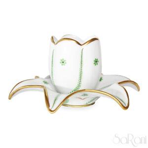 Bougeoir Fleur Chandelier Céramique Le Porcelaine Décoré à la Main Blanc