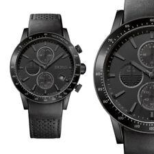 Hugo Boss 1513456 Rafale Chrono Schwarz Edelstahl Herrenuhr Leder Armbanduhr