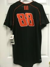 Jr Motorsports 88 Racing Men Black Clima365 Baseball Jersey S Adidas New Tag