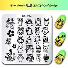 BORN PRETTY  Kunst Nagel Stempel Schablone Nail Art Stamp OWL