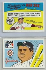 Group Lot of 2 1968 Fleer World Series w Babe Ruth New York Yankees Red Sox EX