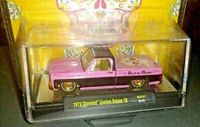 CHASE M2 1973 CHEVY CUSTOM 10 SQUARE BODY TRUCK DIA DE LOS MUERTOS MIJO  PINK