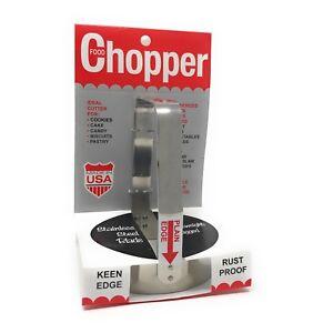Kwik Kut PE-61 Food Chopper Plain Edge Stainless Steel Biscuit Cutter