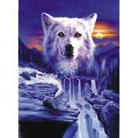 """Full Round Drill 5D Diy Diamond Painting """"Wolf Scenery """" Embroidery Cross S G0H5"""