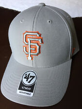 on sale 3d7fc 39d6a San Francisco Giants MLB MVP Gray Pop Cap Hat Adjustable Strapback Baseball  SF