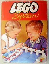Vintage Lego - System Set # 219 15 Blue 2x3 Bricks - Circa 1960-1965