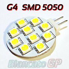 Lampada LED attacco G4 Faretto 12V AC / DC  con 10 x SMD5050 luce bianco 6000K