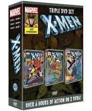 Marvel X-MEN triple DVD box set 3 20 cartoon episodes Cyclops Storm Wolverine
