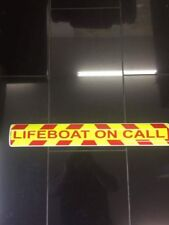 Magnetic sign Lifeboat On Call RED chevron design Background & text vehicle
