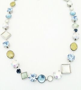 """Lia Sophia CACHE   Colorful Cut Crystals & """"Cat's Eye"""" Necklace"""