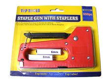 PLASTIC & METAL STAPLE GUN SET WITH 200 STAPLES (100 x 8mm & 100 x 6mm) - NEW