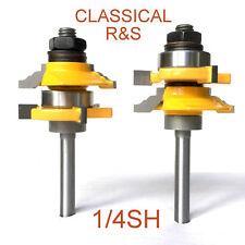 "2 pc 1/4"" Shank Matched Classical Rail & Stile Router Bits Set S"