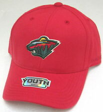 NHL Minnesota Wild Youth Red Structured Adjustable Hat By Reebok