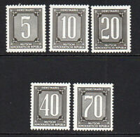 East Germany Set of 5 Official Stamps c1956 Unmounted Mint Never Hinged (5315)