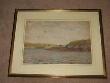 Early 1900's Original Painting of Cemaes Bay Harbour Anglesey - Edwin Binney.